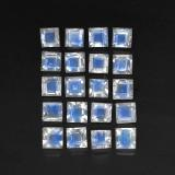 thumb image of 3.4ct Square Facet Blue White Rainbow Moonstone (ID: 305332)