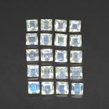thumb image of 2.6ct Square Facet Blue White Rainbow Moonstone (ID: 306414)
