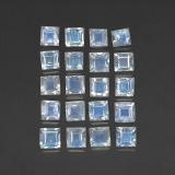 thumb image of 2.5ct Square Facet Blue White Rainbow Moonstone (ID: 306431)