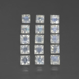 thumb image of 1.6ct Square Facet Bluish White Rainbow Moonstone (ID: 441205)