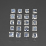 thumb image of 1.6ct Square Facet Bluish White Rainbow Moonstone (ID: 441209)