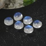 thumb image of 0.9ct Round Cabochon Blue White Rainbow Moonstone (ID: 468039)