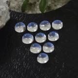 thumb image of 1.3ct Round Cabochon Blue White Rainbow Moonstone (ID: 468087)