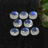 thumb image of 1ct Round Cabochon Blue White Rainbow Moonstone (ID: 468099)
