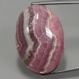 thumb image of 47ct Oval Cabochon Multicolor Rhodochrosite (ID: 391982)