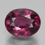thumb image of 4.5ct Oval Facet Raspberry Red Rhodolite Garnet (ID: 379608)