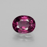 thumb image of 2.1ct Oval Facet Raspberry Red Rhodolite Garnet (ID: 381651)