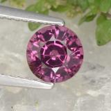 thumb image of 1.3ct Round Facet Raspberry Red Rhodolite Garnet (ID: 382109)