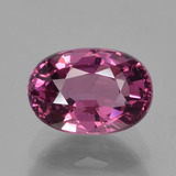 thumb image of 1.6ct Oval Facet Raspberry Red Rhodolite Garnet (ID: 383214)