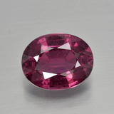 thumb image of 2.8ct Oval Facet Raspberry Red Rhodolite Garnet (ID: 399455)