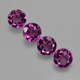 thumb image of 2.5ct Round Facet Raspberry Red Rhodolite Garnet (ID: 406387)