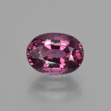 thumb image of 1.9ct Oval Facet Raspberry Red Rhodolite Garnet (ID: 411875)