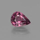 thumb image of 1.3ct Pear Facet Raspberry Red Rhodolite Garnet (ID: 412095)