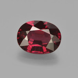thumb image of 3.1ct Oval Facet Raspberry Red Rhodolite Garnet (ID: 412606)