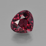 thumb image of 3.4ct Pear Facet Raspberry Red Rhodolite Garnet (ID: 412656)
