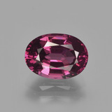 thumb image of 2.1ct Oval Facet Raspberry Red Rhodolite Garnet (ID: 412711)