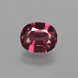 thumb image of 1.7ct Oval Facet Raspberry Red Rhodolite Garnet (ID: 412719)