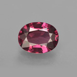 thumb image of 1.6ct Oval Facet Raspberry Red Rhodolite Garnet (ID: 412725)