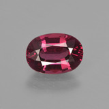 thumb image of 1.7ct Oval Facet Raspberry Red Rhodolite Garnet (ID: 412726)