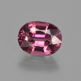 thumb image of 2.1ct Oval Facet Raspberry Red Rhodolite Garnet (ID: 412746)