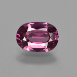thumb image of 1.6ct Oval Facet Raspberry Red Rhodolite Garnet (ID: 412820)