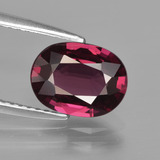 thumb image of 2.4ct Oval Facet Raspberry Red Rhodolite Garnet (ID: 412857)