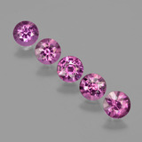 thumb image of 2.7ct Round Facet Raspberry Red Rhodolite Garnet (ID: 413315)