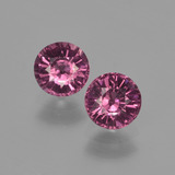 thumb image of 1.3ct Round Facet Raspberry Red Rhodolite Garnet (ID: 413364)