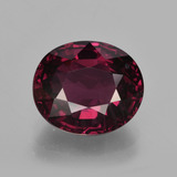 thumb image of 3.7ct Oval Facet Raspberry Red Rhodolite Garnet (ID: 414025)