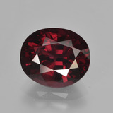 thumb image of 3.6ct Oval Facet Raspberry Red Rhodolite Garnet (ID: 414033)