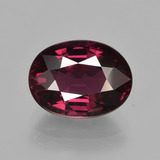 thumb image of 3.7ct Oval Facet Raspberry Red Rhodolite Garnet (ID: 414035)
