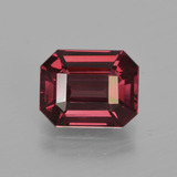 thumb image of 3.5ct Octagon Facet Raspberry Red Rhodolite Garnet (ID: 414117)