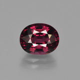 thumb image of 3.6ct Oval Facet Raspberry Red Rhodolite Garnet (ID: 414242)