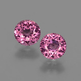 thumb image of 1.3ct Round Facet Raspberry Red Rhodolite Garnet (ID: 415077)