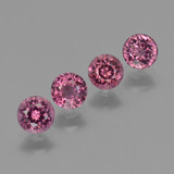 thumb image of 1.5ct Round Facet Raspberry Red Rhodolite Garnet (ID: 415129)