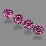 thumb image of 2.5ct Round Facet Raspberry Red Rhodolite Garnet (ID: 415150)