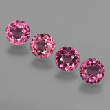 thumb image of 2.3ct Round Facet Raspberry Red Rhodolite Garnet (ID: 415152)