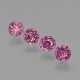 thumb image of 1.4ct Round Facet Raspberry Red Rhodolite Garnet (ID: 415208)