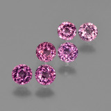 thumb image of 2ct Round Facet Raspberry Red Rhodolite Garnet (ID: 415215)