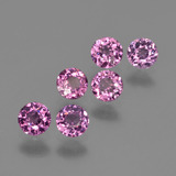 thumb image of 2ct Round Facet Raspberry Red Rhodolite Garnet (ID: 415217)