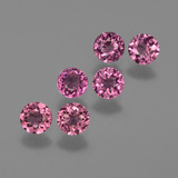 thumb image of 1.8ct Round Facet Raspberry Red Rhodolite Garnet (ID: 415218)