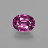 thumb image of 1.2ct Oval Facet Raspberry Red Rhodolite Garnet (ID: 415457)
