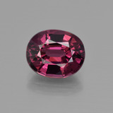 thumb image of 4.4ct Oval Facet Raspberry Red Rhodolite Garnet (ID: 417989)