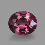 thumb image of 2.7ct Oval Facet Raspberry Red Rhodolite Garnet (ID: 421608)