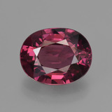 thumb image of 3ct Oval Facet Raspberry Red Rhodolite Garnet (ID: 421612)