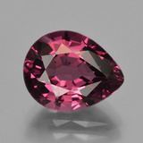 thumb image of 4.1ct Pear Facet Raspberry Red Rhodolite Garnet (ID: 423398)