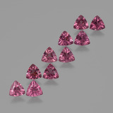 thumb image of 4.2ct Trillion Facet Pinkish Rose Rhodolite Garnet (ID: 423557)