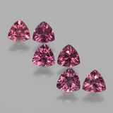 thumb image of 2.7ct Trillion Facet Pinkish Rose Rhodolite Garnet (ID: 424191)