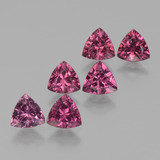 thumb image of 3.2ct Trillion Facet Pinkish Rose Rhodolite Garnet (ID: 424223)