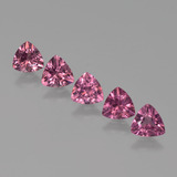 thumb image of 0.5ct Trillion Facet Pinkish Rose Rhodolite Garnet (ID: 424337)